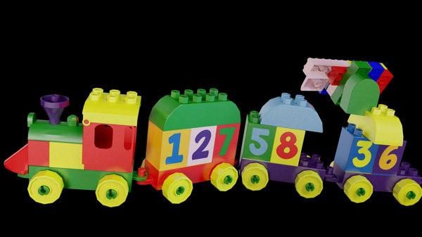 toy duplo number train obj