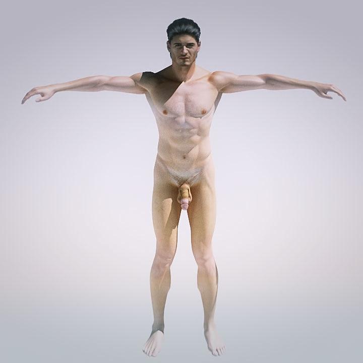 male - body 3d model