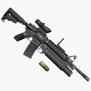 3d m4a1 m203 grenade