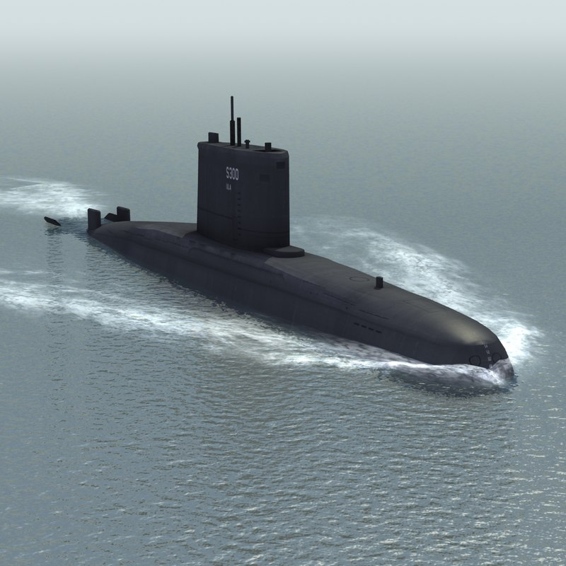 3d model ula class attack submarine