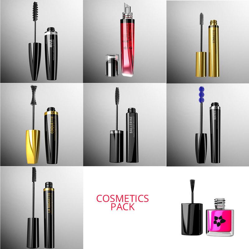 cosmetics pack 3d ma