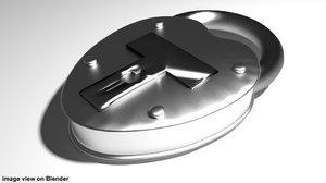 3d model padlock antique