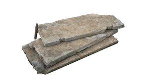concrete slabs obj