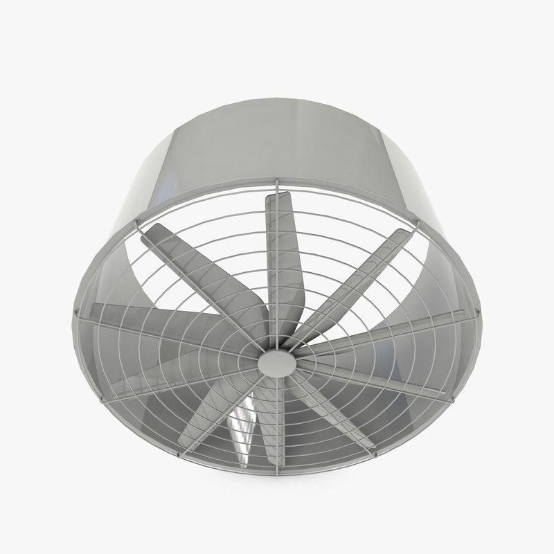 big industrial fan 3d 3ds
