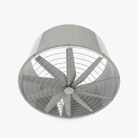big industrial fan 3d 3ds