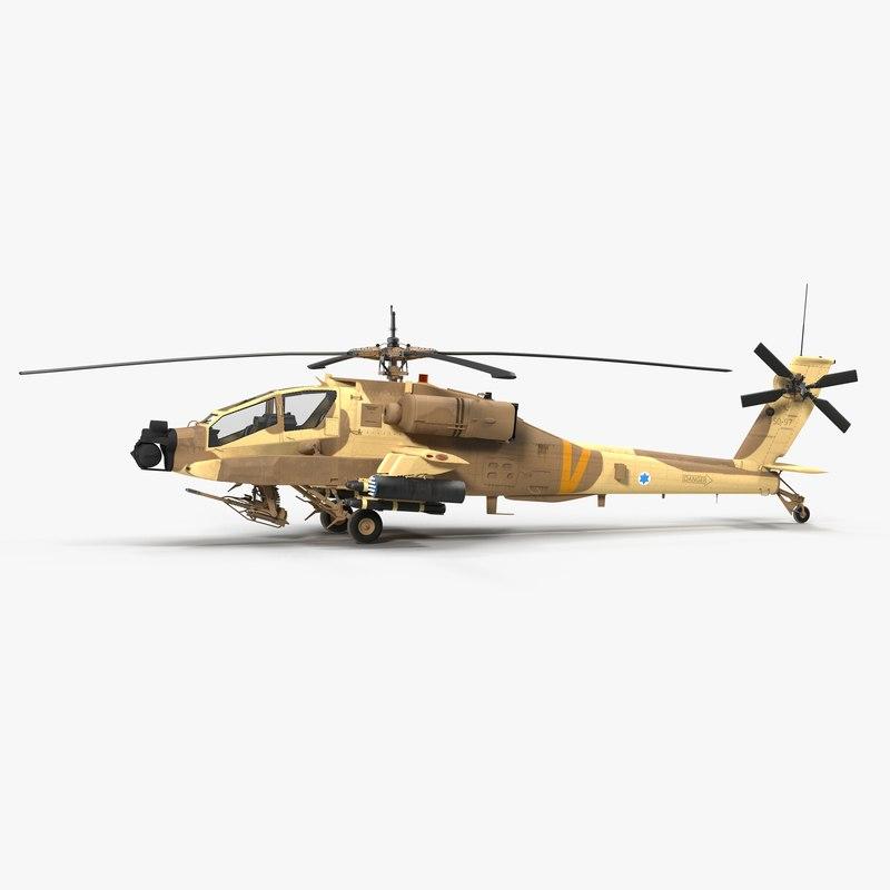 ah64a apache helicopter desert 3d max