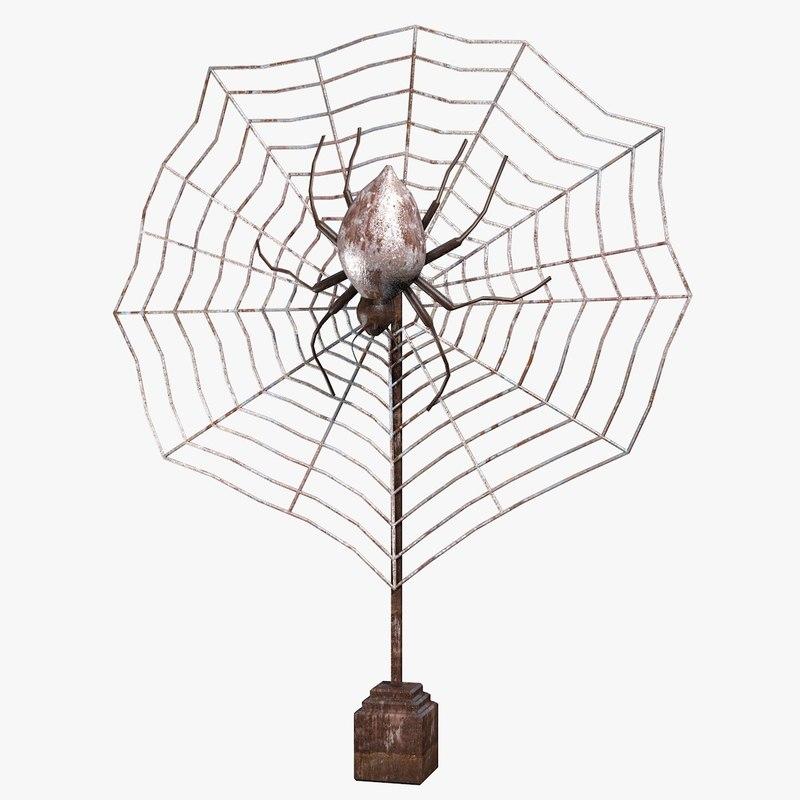 3ds max metal spider