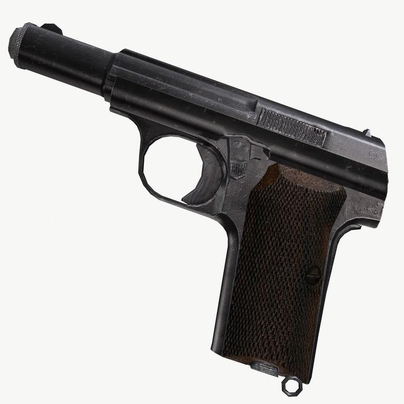astra 300 pistol 3d obj