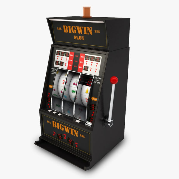 casino slot machine 3d obj