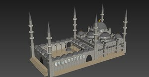 3d model of mosque places worship