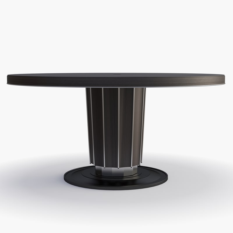 baker - sutton dining table 3d max