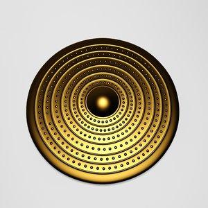 bronze age shield 3d model