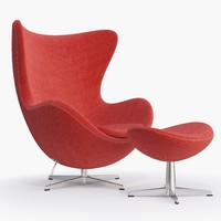 3d fritz hansen - egg chair