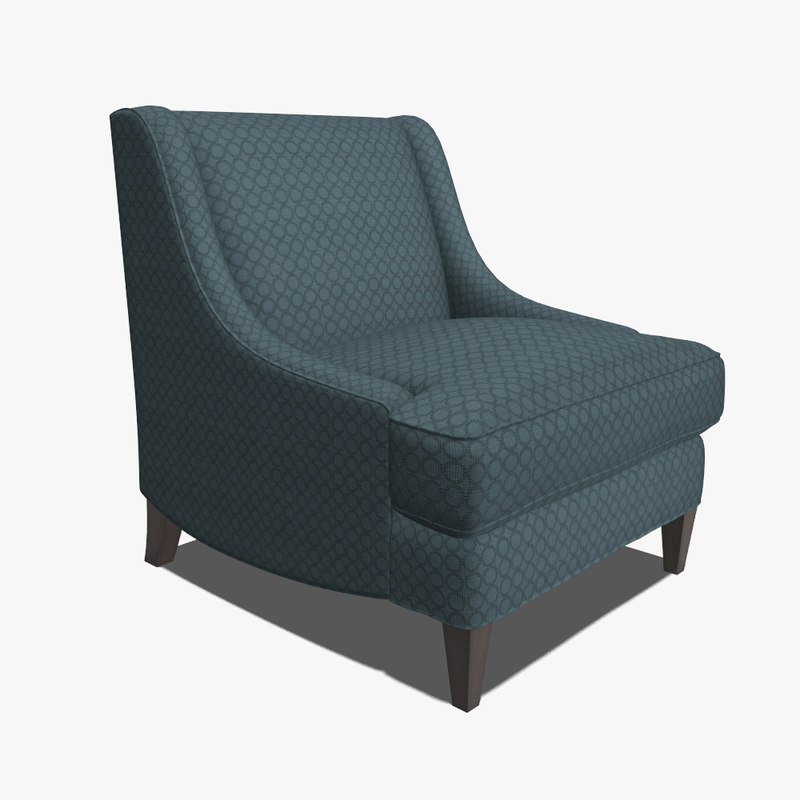3d hickory white chair