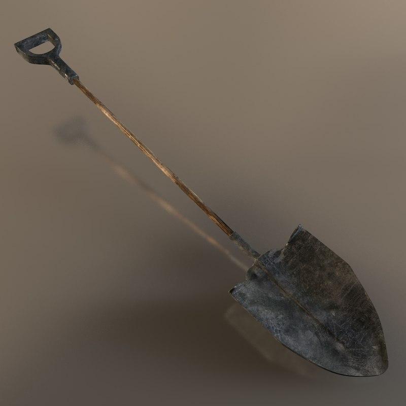 c4d shovel old