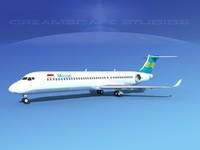 3d comac airliner