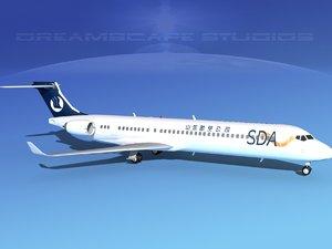 comac airliner 3d max