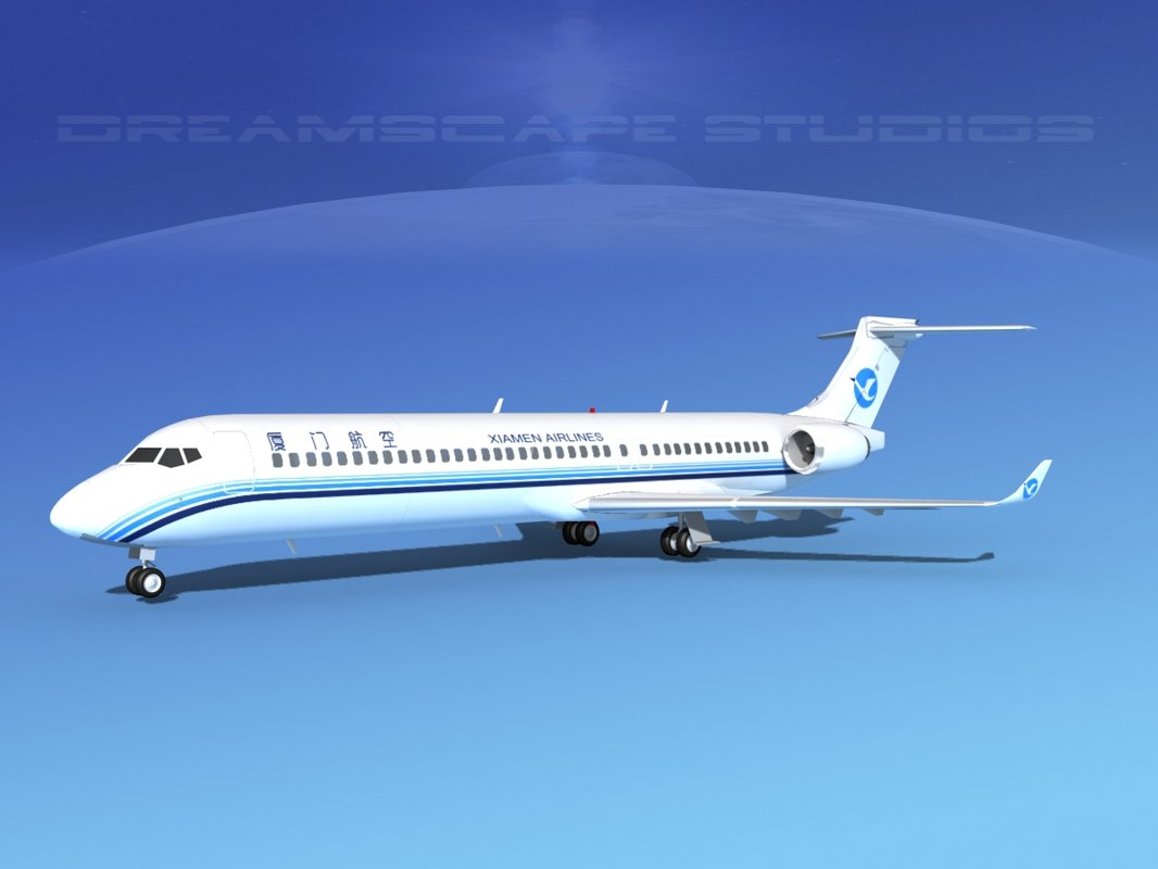 3ds comac airliner