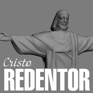 christ cristo redentor 3d max