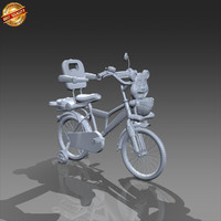 cycle baby 3d model