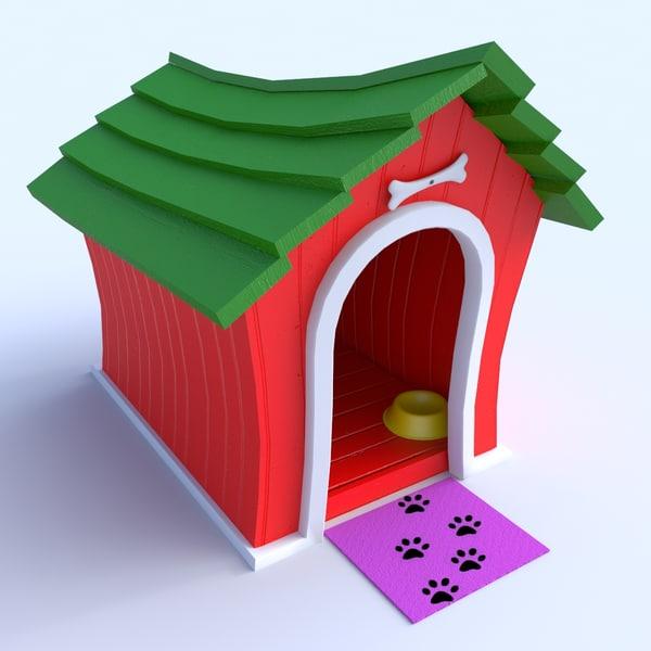cartoon doghouse 3d model