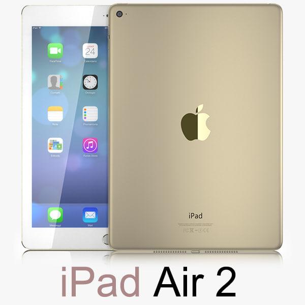 3d model apple ipad air 2