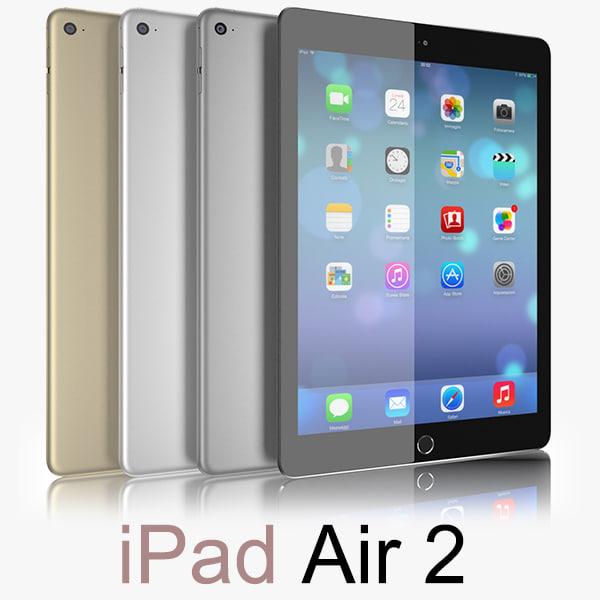 d apple ipad air 2 model