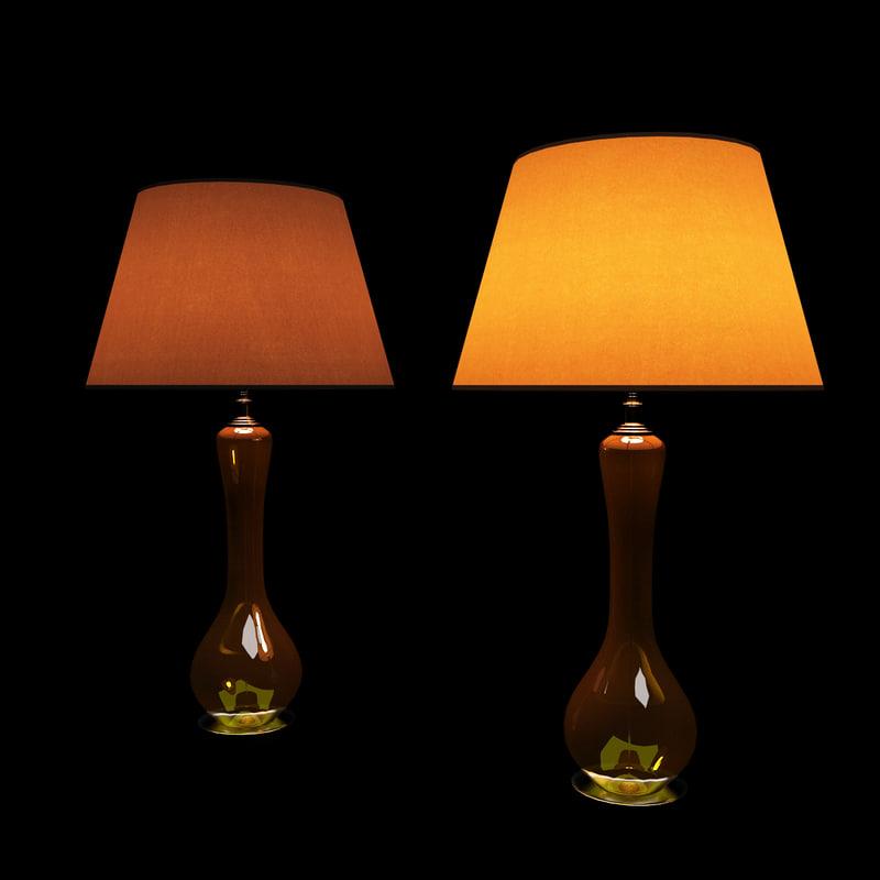 3d table lamp 02 model