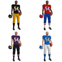 3d max rigged football players