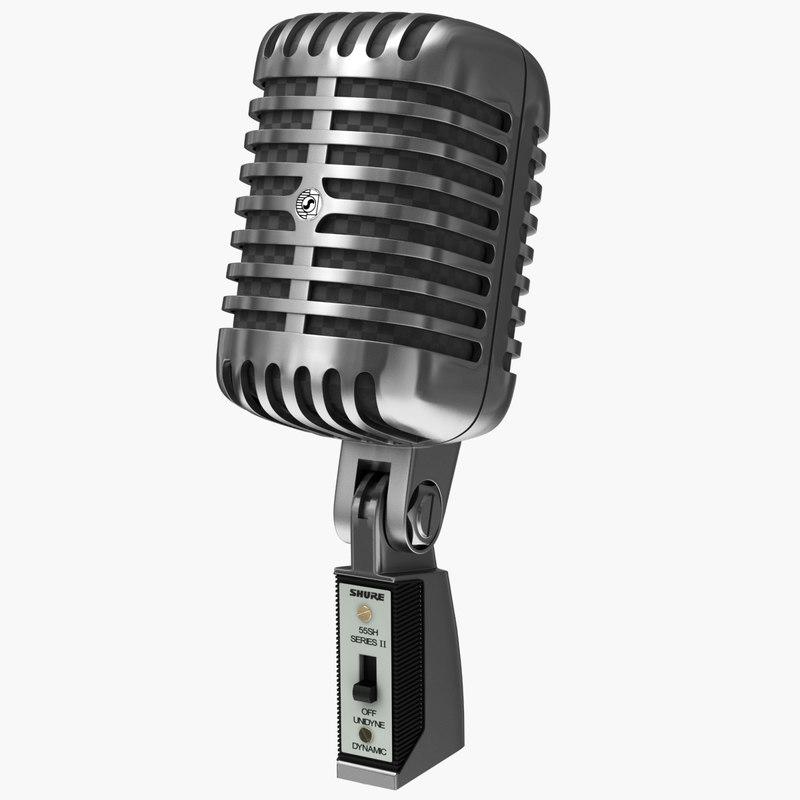 3ds max micophone 55sh
