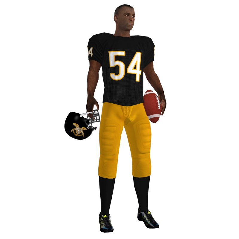 football player rigged 3d model