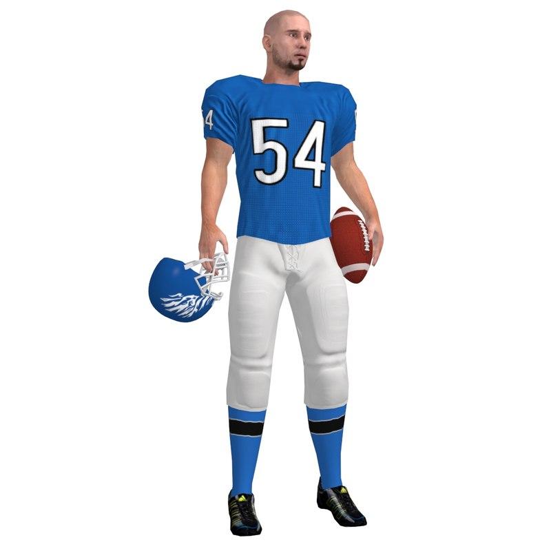 max football player rigged