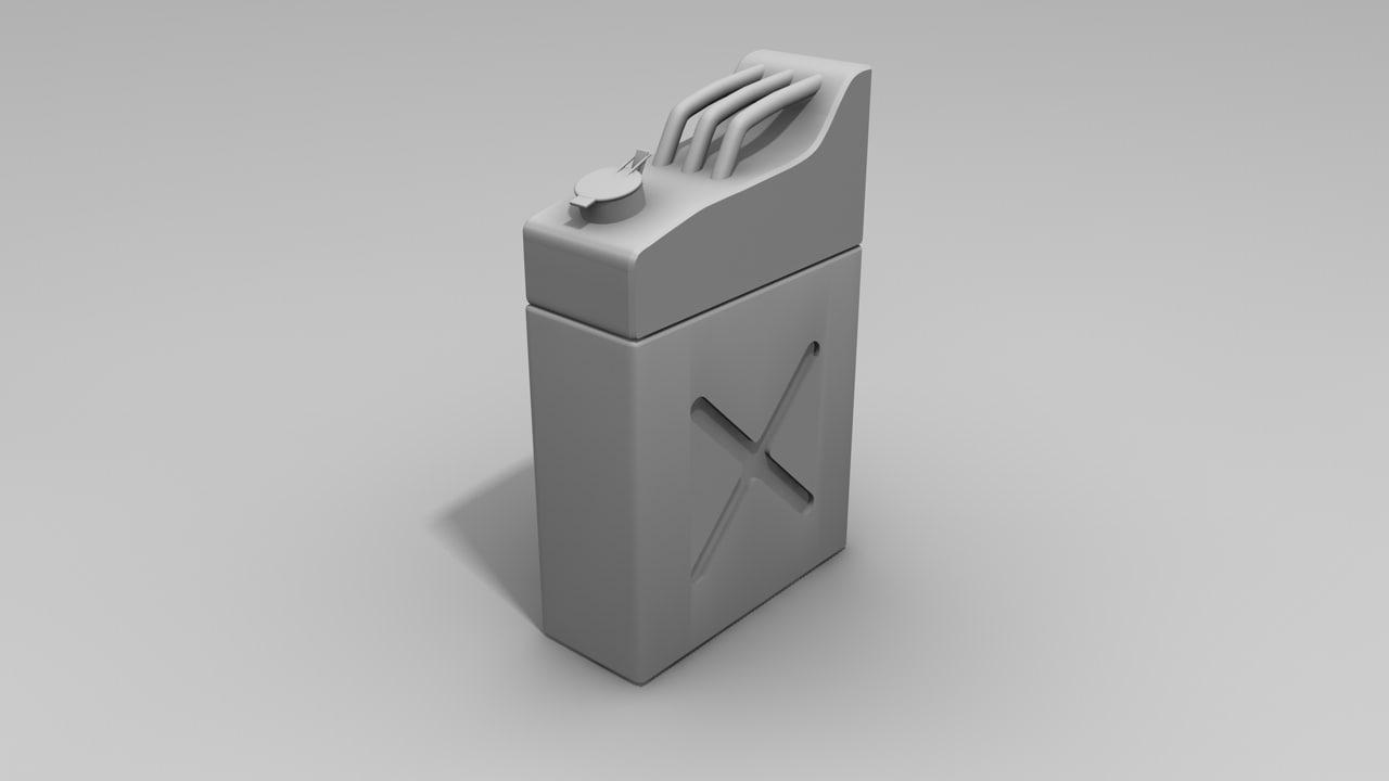petrol bucket 3d model