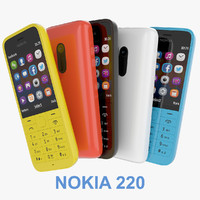 Nokia 220 Black, Yellow, Red, White And Blue