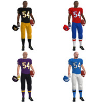 3d model rigged football players