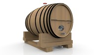wine barrel obj