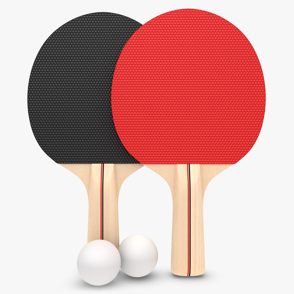 3d model realistic ping pong paddle