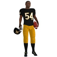 football player rigged 3d max