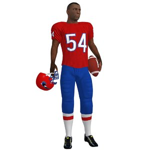 football player rigged 2 3d model