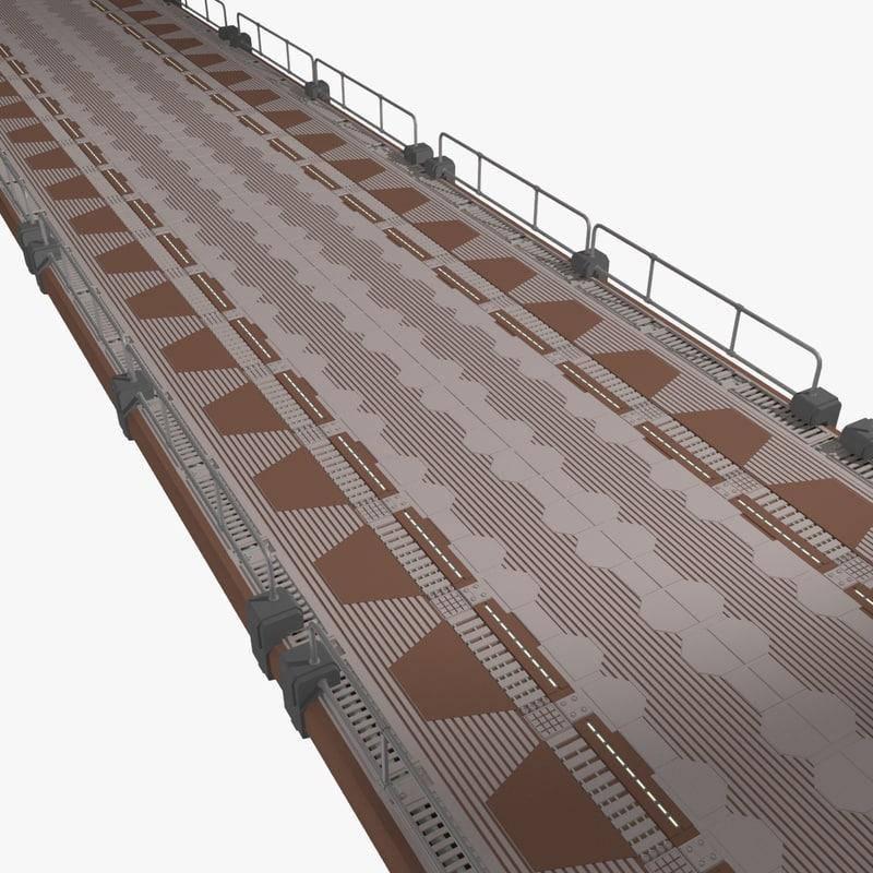 sci-fi floor 3d 3ds