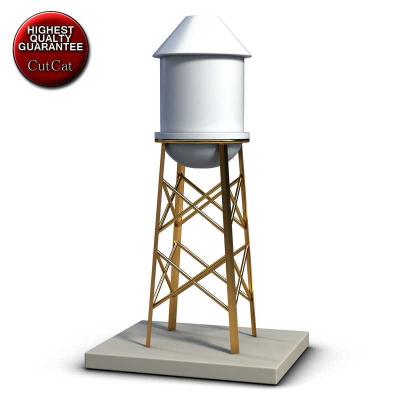 industrial water tank 3d obj