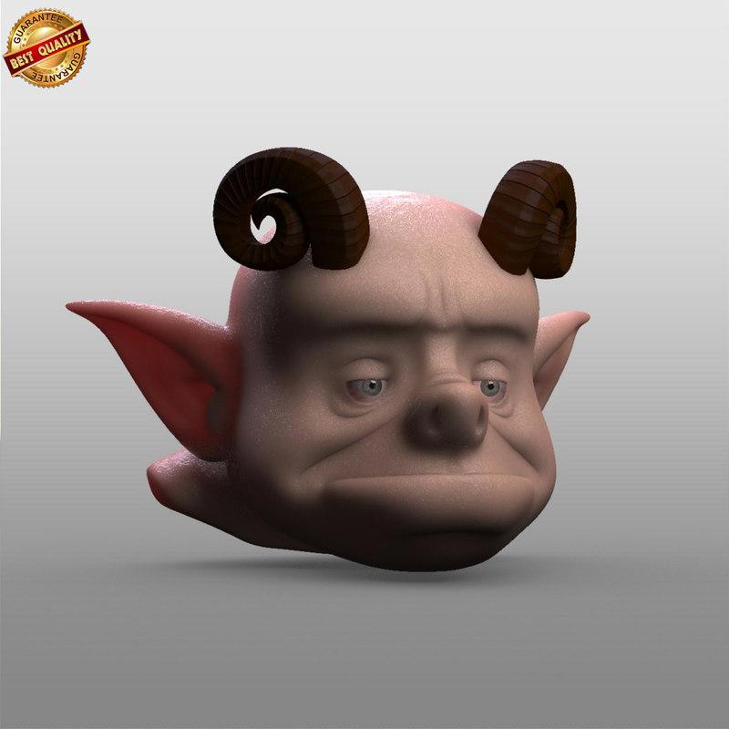 3d creature head
