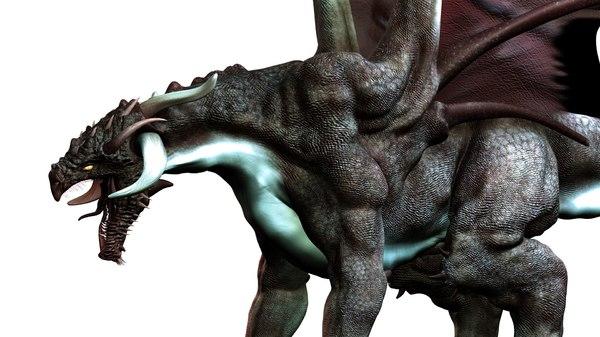 maya realistic dragon