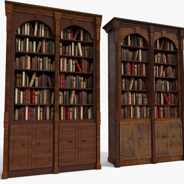 set bookcases 3d model