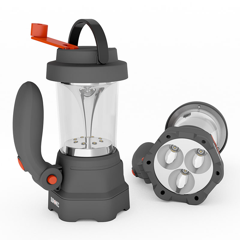 3d model led lantern flashlight dynamo
