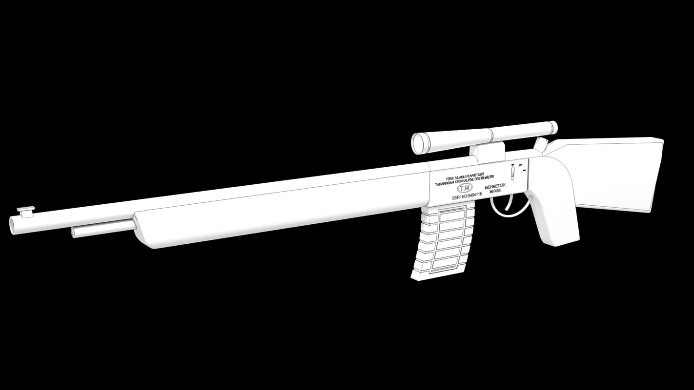 rifle shotgun weapon 3d max
