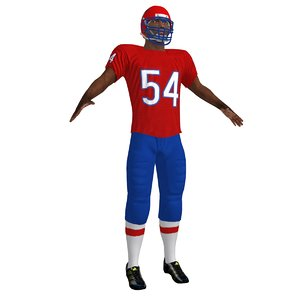 3d model of football player 2