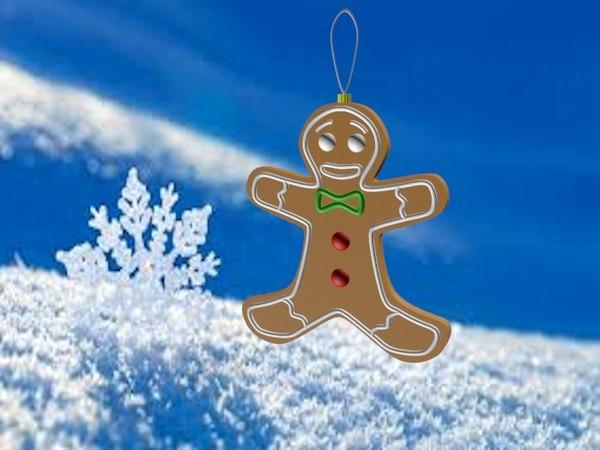 gingerbread christmas tree 3d model