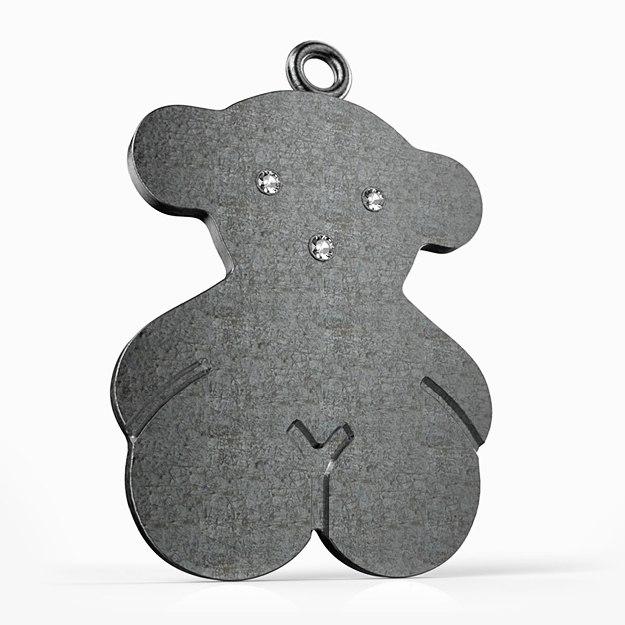3dm diamond pendant bear