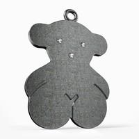 3dm diamond pendant bear